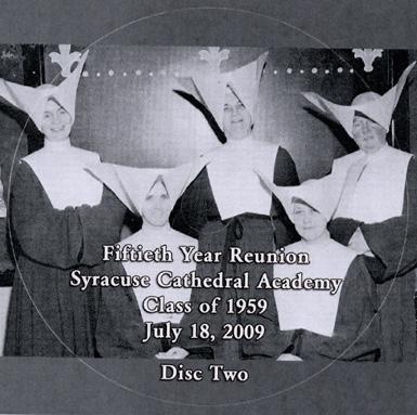 Sister Cecilia, Sister De Paul, Sister Agnes. Sister Mary Beatrice, Sister Hortense